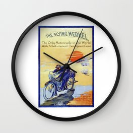 Vintage Merkel Motorcycle Advert Wall Clock
