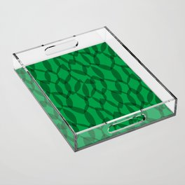 Overlapping Leaves - Dark Green Acrylic Tray