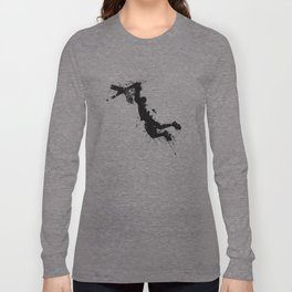 Basketball player dunking in ink Long Sleeve T-shirt
