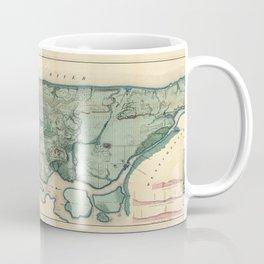 Egbert Viele 1865 Topographic Map of New York City Coffee Mug