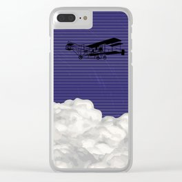 Plane and time Clear iPhone Case