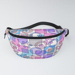 Pink blue abstract Fanny Pack