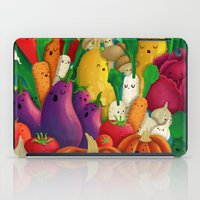 vegetarian iPad Cases featuring Nice People Eat Vegetables - background (Made with Danny Ivan) by Lidija Paradinović Nagulov - Celandine