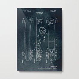 1999 - Longboard patent art Metal Print