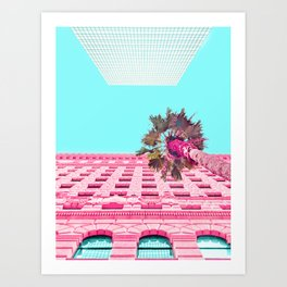LA Palm Tree Look Up Art Print