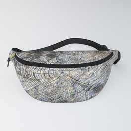 Old Tree Rings Fanny Pack