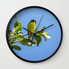 Yellow Bird - II Wall Clock