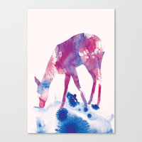 fawn Canvas Prints featuring Fawn by Andreas Lie