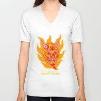 diablo V-neck T-shirts featuring El Diablo VFX  by El Diablo VFX