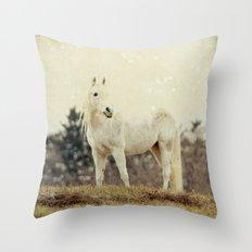Lone Horse Throw Pillow