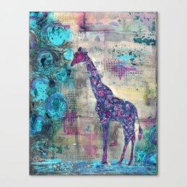 Majestic Series: Giraffe having a berry Canvas Print