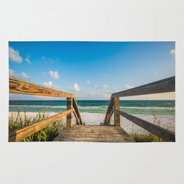 Head to the Beach - Boardwalk Leads to Summer Fun in Florida Rug