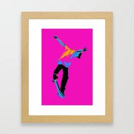"""""""Flipping the Deck"""" Skateboarding Stunt Framed Art Print"""