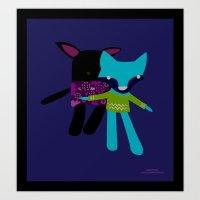 BunnyFox Art Print