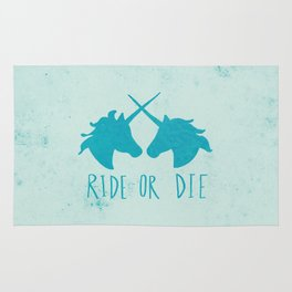 Ride or Die x Unicorns x Turquoise Rug