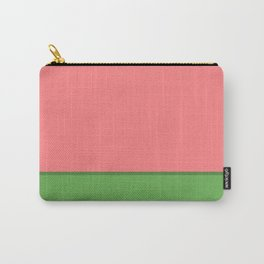 Cheerful Color Block In Watermelon Juice Pink and Spring Green  Carry-All Pouch