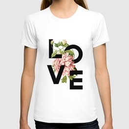 Vintage Floral - Love T-shirt