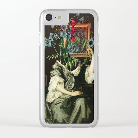 Florales Portrait Disaster Clear iPhone Case
