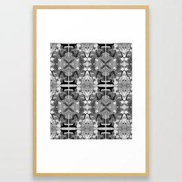 absence black and white Framed Art Print