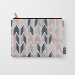 Aged Chevron Pattern Carry-All Pouch