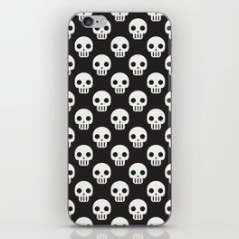 Cute and Creepy Pop Art Wall of Skull Skulls iPhone Skin