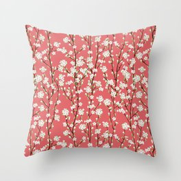 Go Orient Cherry Blossoms Throw Pillow