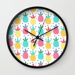 Pineapple Pizzazz Wall Clock