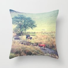 THE COWS COME HOME (everyday 06.01.2017) Throw Pillow