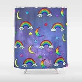 Kawaii Galaxy Shower Curtain