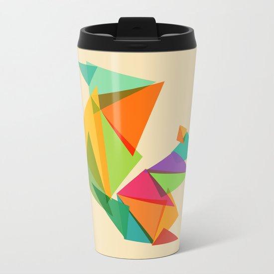 Fractal geometric Squirrel Metal Travel Mug