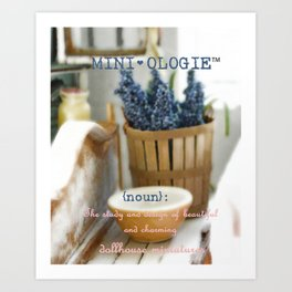 Mini-ologie Print Art Print