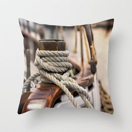 linen rope from the old ship Throw Pillow
