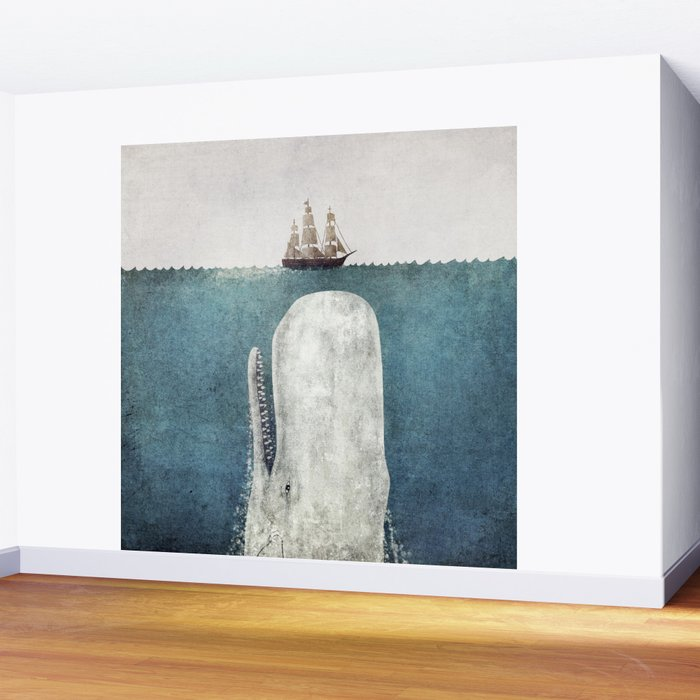 The Whale - vintage Wall Mural
