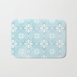 Christmas snowflakes pattern Bath Mat