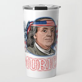 Benjamin Franklin 4th Of July  Travel Mug