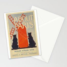 ABOUT PARIS VINTAGE POSTER Stationery Cards