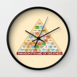 ron swanson's pyramid of greatness Wall Clock
