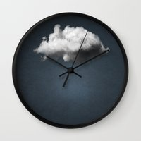 magritte Wall Clocks featuring WAITING MAGRITTE by THE USUAL DESIGNERS