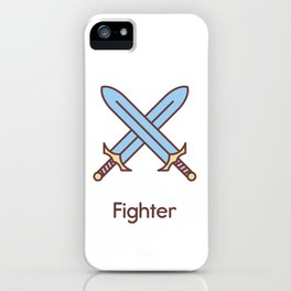 Cute Dungeons and Dragons Fighter class iPhone Case