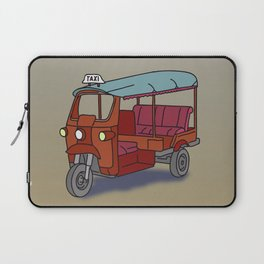Red tuktuk / autorickshaw Laptop Sleeve