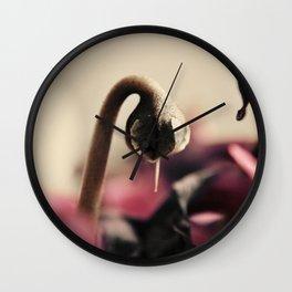 Cyclamen Bud Wall Clock