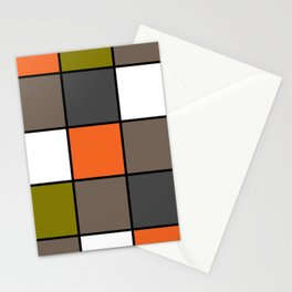 #Colorful #squares Stationery Cards