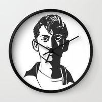 alex turner Wall Clocks featuring alex turner [6] by roanne Q