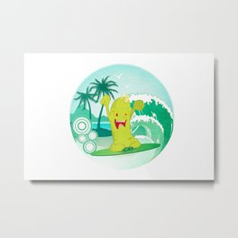 Summer Skim Metal Print