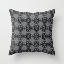 Sharkskin Floral Abstract Throw Pillow