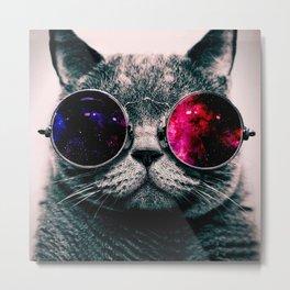 sunglasses cat Metal Print