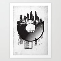 deadmau5 Art Prints featuring Urban Vinyl by Sitchko Igor