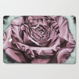 Fifties Rose, pastel drawing Cutting Board