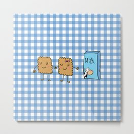 Cookies and Milk Metal Print