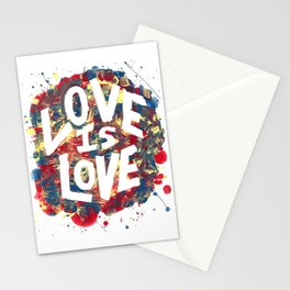 Love Is Love Rainbow Splatter Stationery Cards